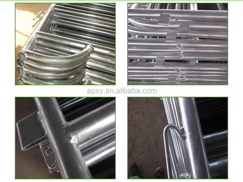 metal tubular cattle/cow/horse fence rails galvanized livestock farm fence panel