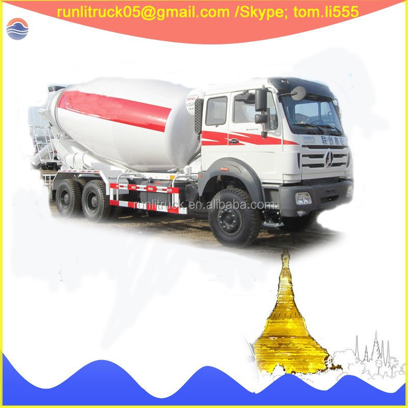 Beiben truck supplier for beiben ng80 ND12501B43J RHD 12 wheels 14 cbm used concrete mixer truck sale in congo