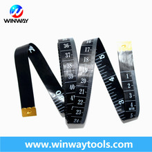 Cloth Tailors Tape Measure yellow and black color 0.35mm thickness blade fiber measure tape