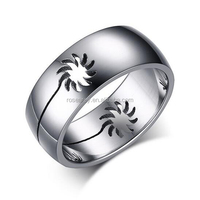 316 stainless steel Hollow out Sunstreaker cool men ring quotes gay men ring