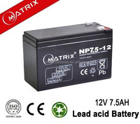 vrla bateria 12 volts 7.5ah sealed lead acid battery