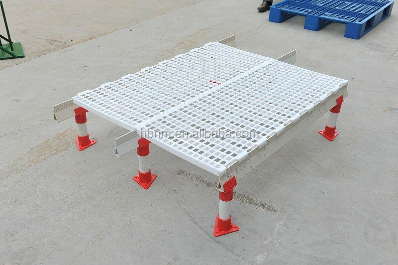 2017 hot sale factory price poultry farming equipment plastic slat floor for chicken farm house