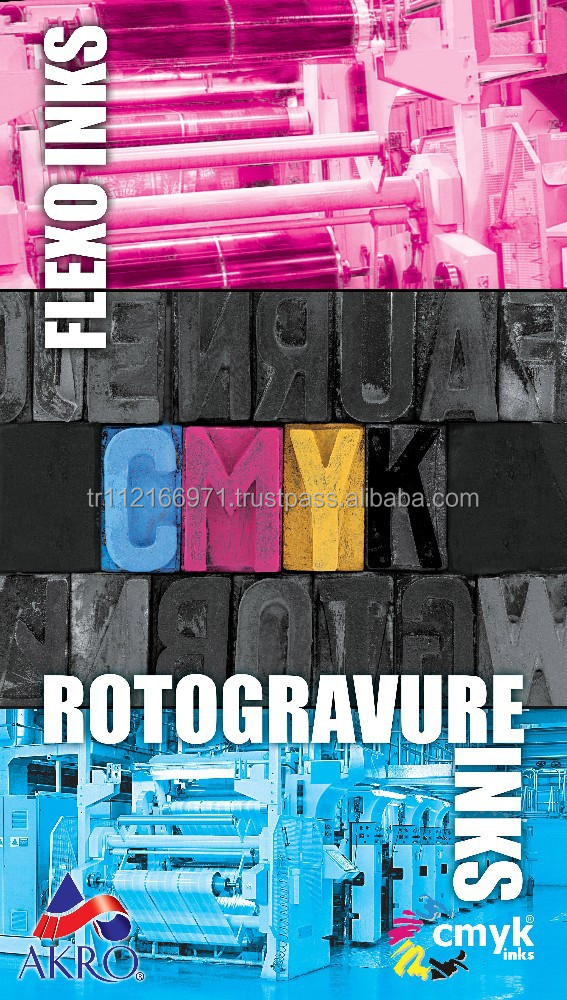 ROTOGRAVURE INKS - PRODUCED IN TURKEY