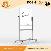 GB03 Business used freestanding magnetic movable glossy surface color customized dry erase board