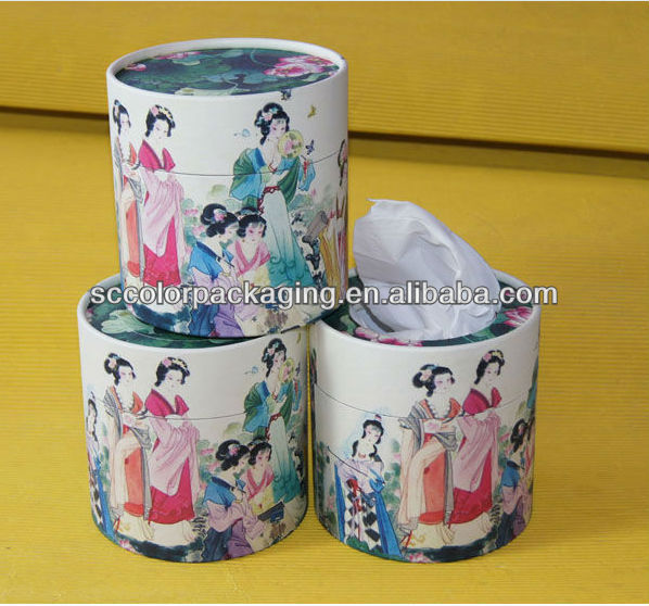 The main Chinese wind style cylinder box, (candy, chocolate box)