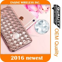 mobilephone case factory bling back cover for iphone 6 phone case