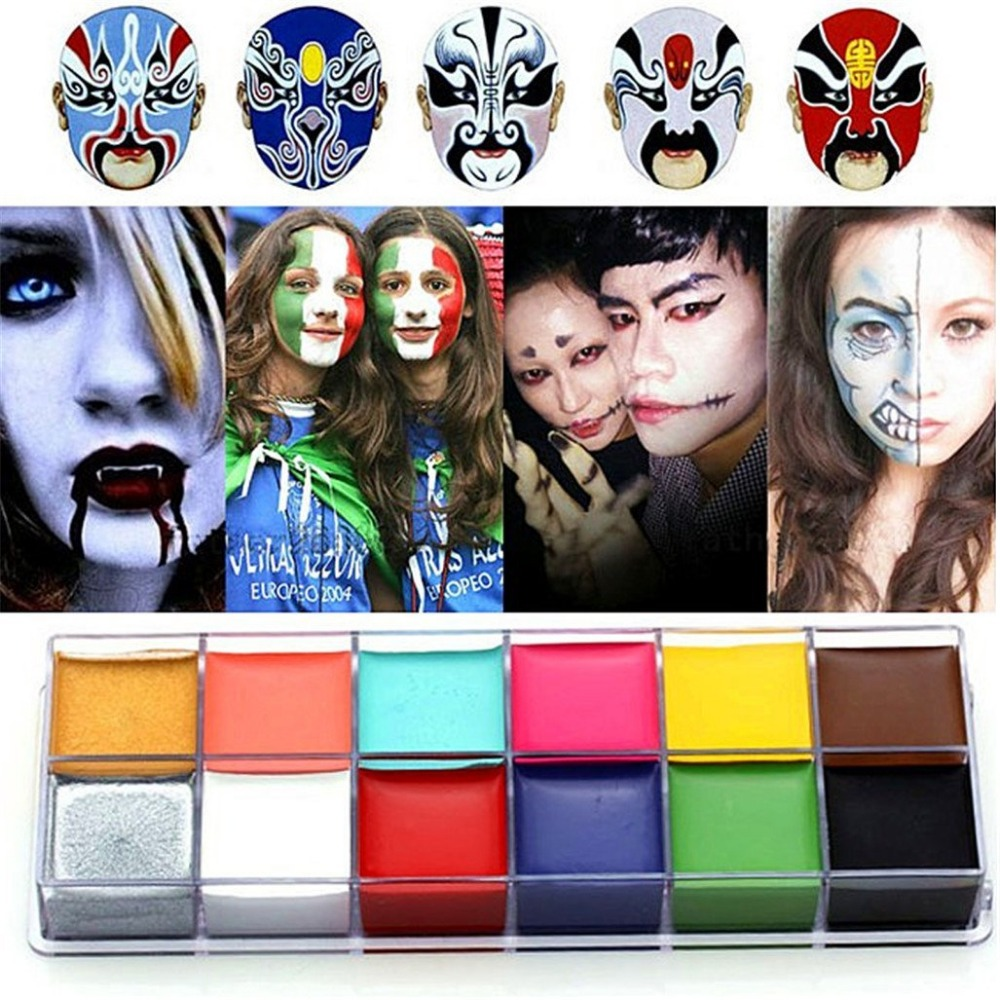 2016 Professional Body and Face Paint with 12 Colors Non-toxic body paint