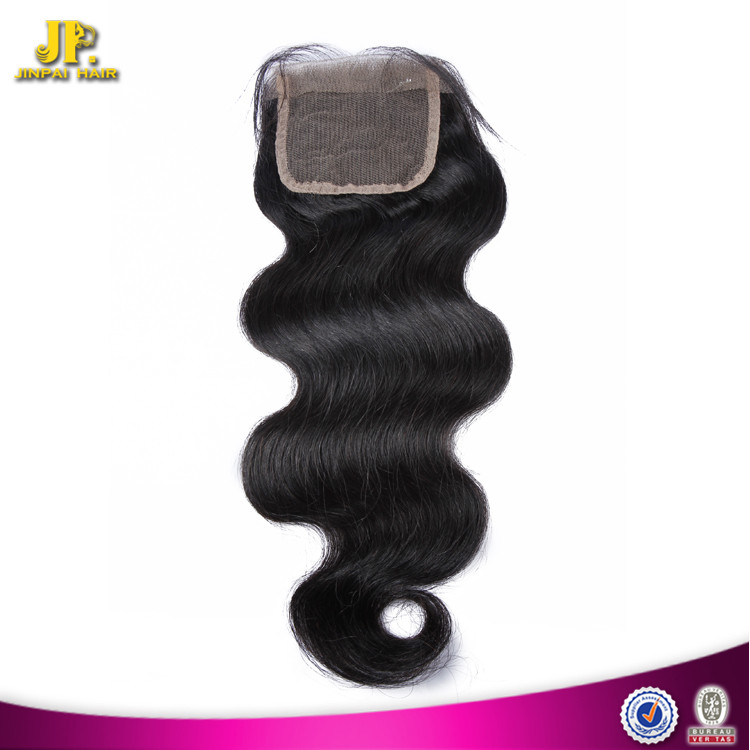 JP Hair Top Selling Swiss Lace Indian Remy Hair Weave Closures