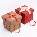 Christmas Packaging Tin Paper Box with Handles