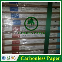 2-3ply cb cfb cf white 55gsm ncr paper carbonless paper with blue image