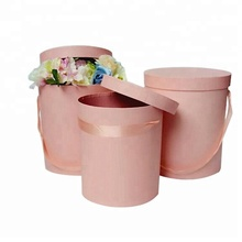 Luxury custom printing design cardboard round box flower boxes