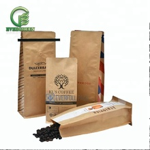 Eco-friendly coffee packaging bags with tin-tie, Wholesale kraft paper coffee bags