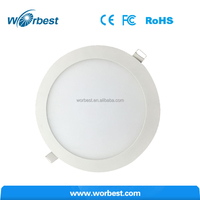 Dimmable 18W Flat LED Panel Light Round Recessed Ceiling Downlight with LED driver , Warm White 2700K - 3200K