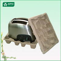 Recyclable Material Disposable Pulp Molded Fiber Packaging Custom