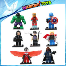 Hot selling SY161 Super heroes figures blocks small building blocks 8 models mix
