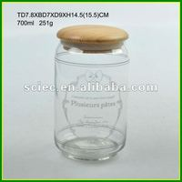 Glass Jar Wooden Lid
