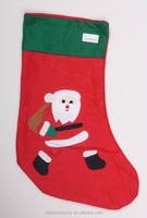 Non woven Fabric Wholesale Santa Claus Christmas Tree Stocking Ornament