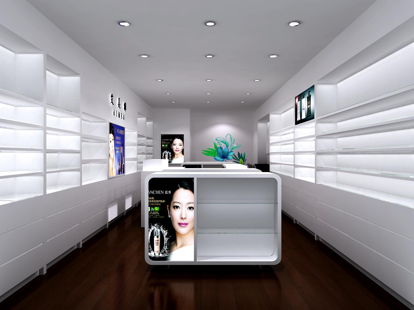 Fashion Shop Display Counter Cosmetic Shop Interior Design Buy Cosmetic Shop Interior Design