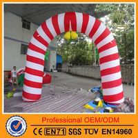Custome christmas inflatable arch/Advertising inflatable entrance