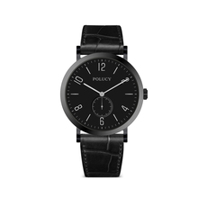 simple quartz stainless steel Custom Logo black Watch with one eyes small dial
