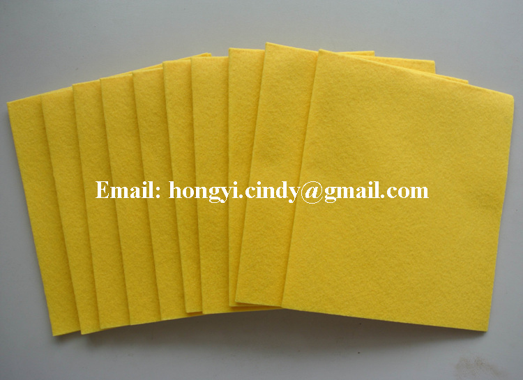 Machine washable lint free super absorbent yellow color nonwoven fabric multi-purpose cleaning wipes
