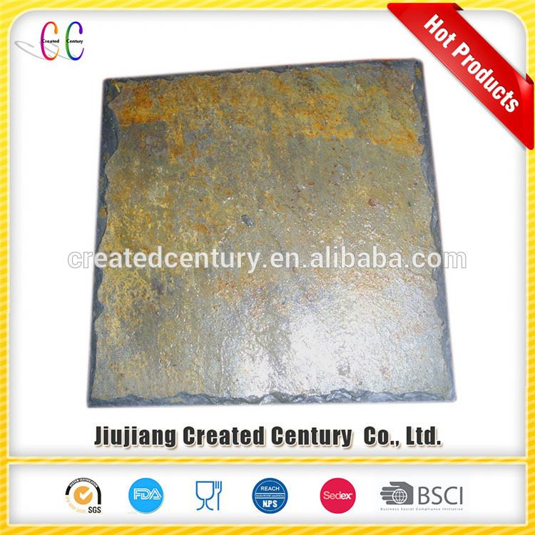Volume manufacture fish scale roofing slate stones