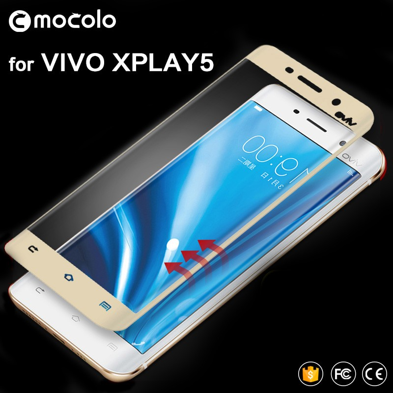 Newest mobile phone 3d full cover tempered glass film screen protector for Vivo Xplay 5