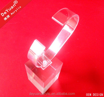 Transparent acrylic display for men wrist watches
