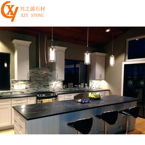Very popular black marble kitchen countertops