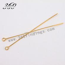 Chinese supplier 38mm gold plated open eye pins