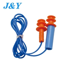 Silicone noise sound insulation earplug pressure case in pvc with cord for travel learning and sleep ce ansi asnzs approved