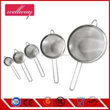 Stainless Steel Tea Strainer Mesh Colander Sieve Set with Long Handle for Kitchen Sugar Milk Egg, Set of 5