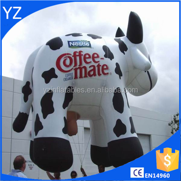 Inflatable coffemate cow