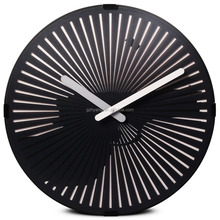 12 inch black animated gun wall clock with time showing for kids