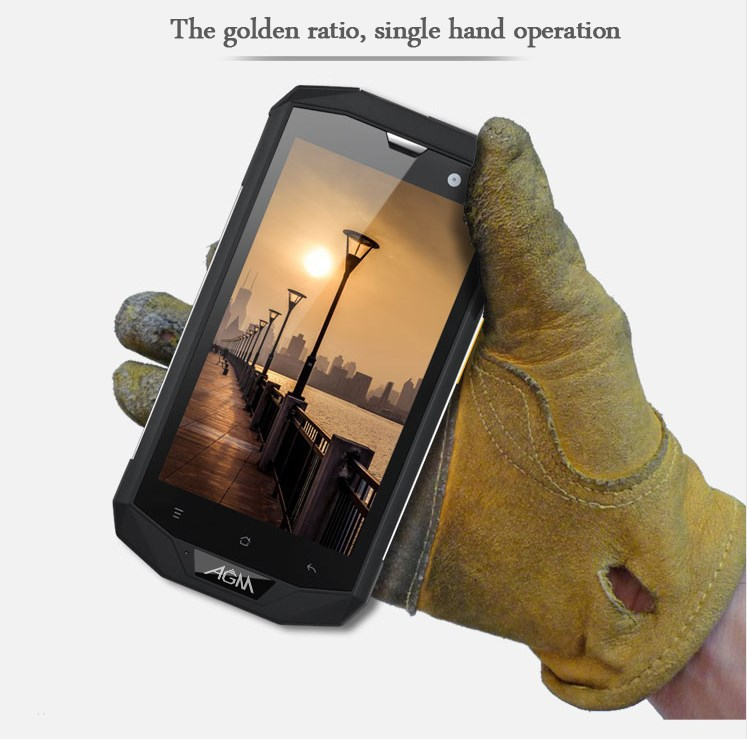 "New 5"" IPS 1280*800 screen Android 4.4 rugged waterproof 4G mobile phone"