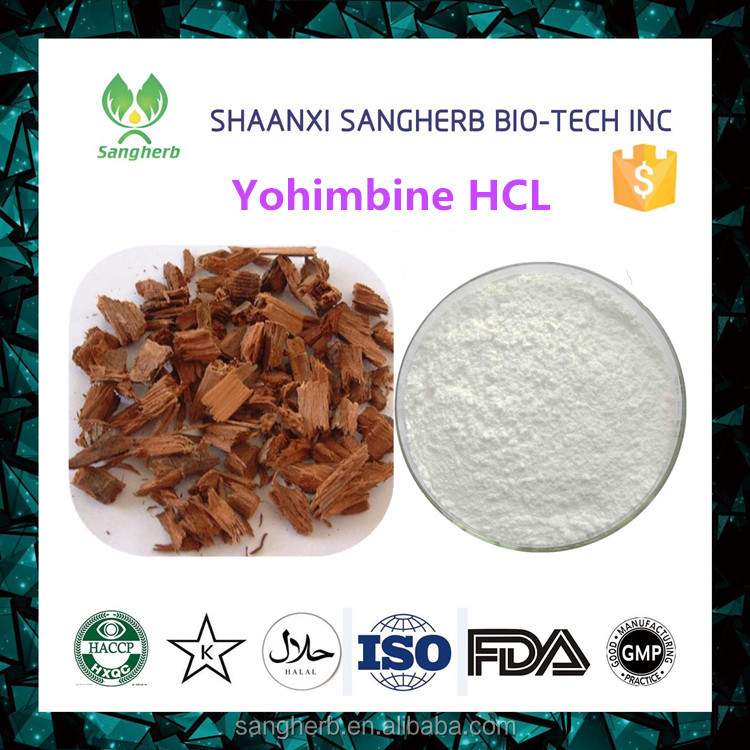 High quality Yohimbe bark extract 98% Yohimbine hydrochloride for man health care