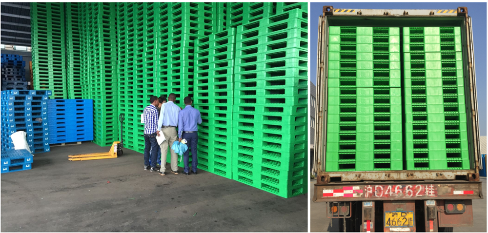 heavy duty large stackable double sides HDPE plastic pallet for sale