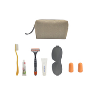 Personal Care Customized Complete Set Hotel And Airplane Amenities Kits