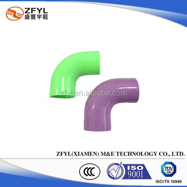 Coloured 90 Degree Elbow Silicone Rubber Hose, Engineering enquires are welcomed