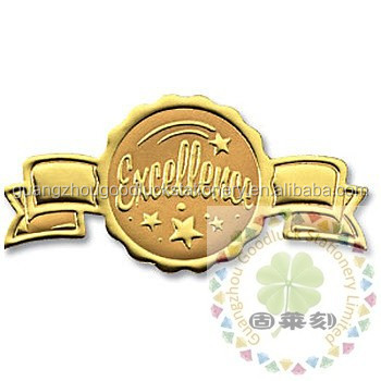 Personal company embossing seals sticker with good price/custom gold embossed seals