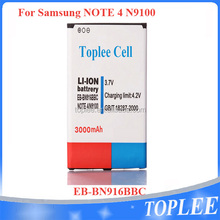 High capacity 3200 mAh eb-bn910bbe mobile rechargeable battery for samsung note 4 battery