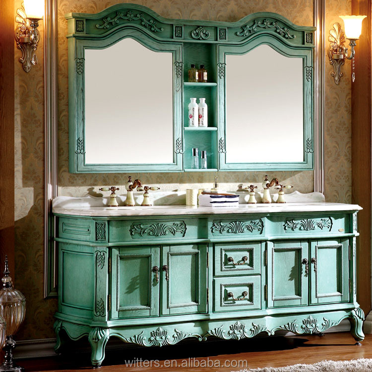 WTS-8011Q Iran hot sales Antique bathroom vanity cabinets Made in china