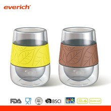 Durable borosilicate glass double wall thermos cup and mugs