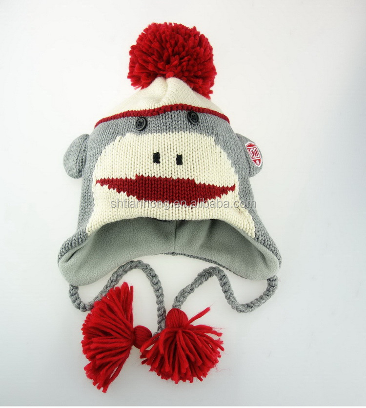 Excellent quality hotsell kids knitting animal winter hat