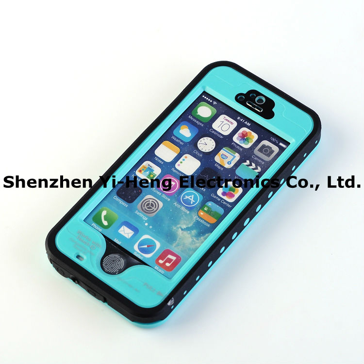 PVC waterproof case for iPhone 5 EXTREME Dropproof Dirtproof for iPhone 5S Waterproof Cover case for Iphone5