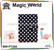 BLACK WHITE PU LEATHER DOT CASE FOR IPAD 2 3 4