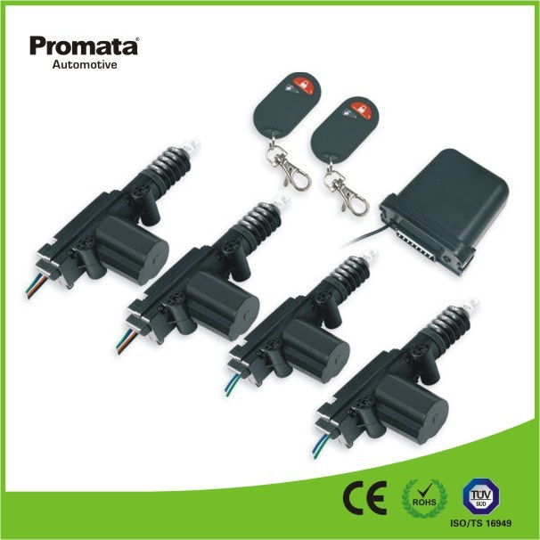 12V or 24V remote car door key with top quality 5 wire and 2 wire door lock actuators
