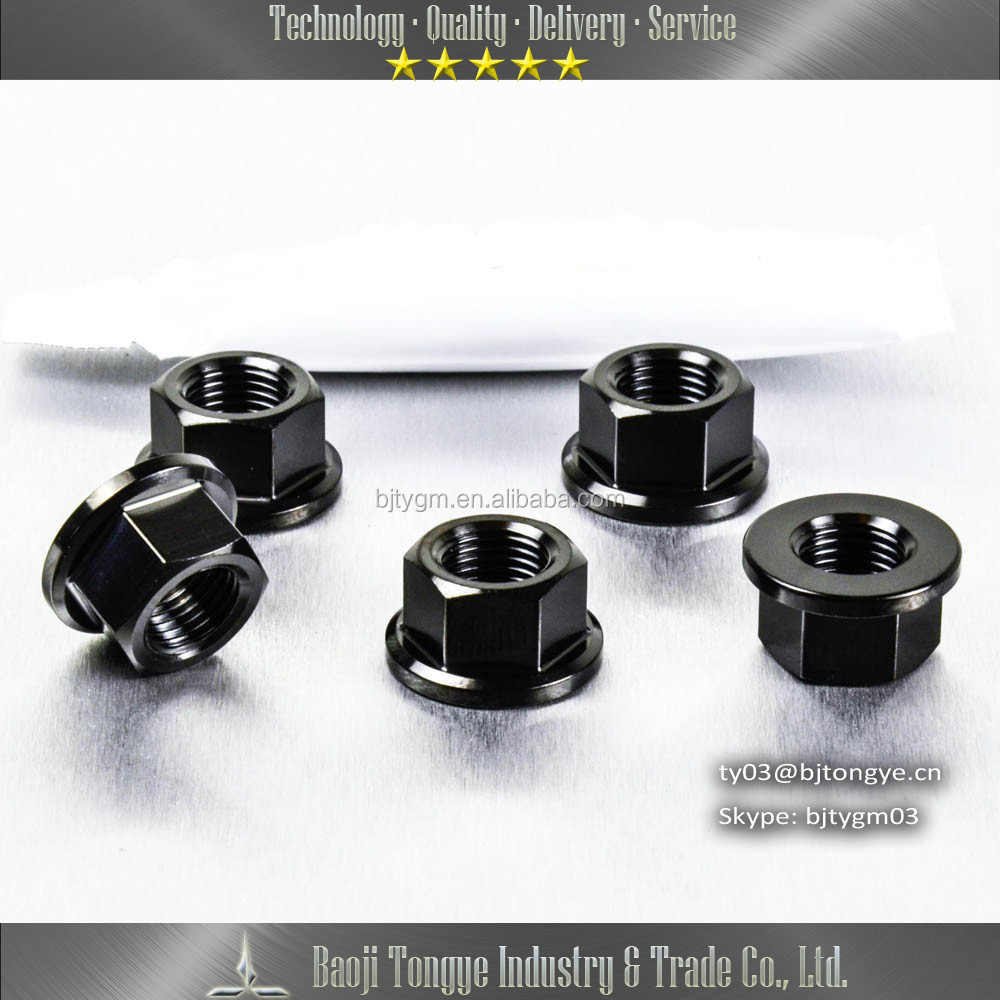 Black Titanium sprocket nut <strong>M10</strong>