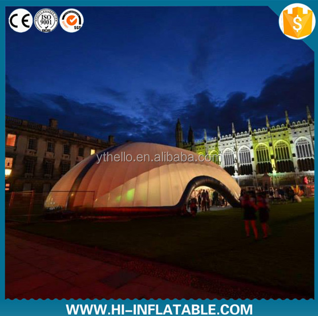dazzling inflatable dome tent inflatae exhibition tent with LED light for event