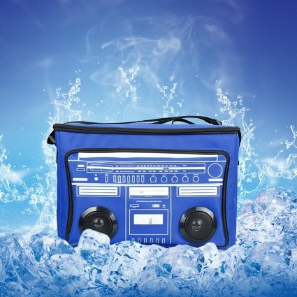 Waterproof Picnic fm radio beach beer Insulated Bluetooth mp3 Speaker Cooler Bag